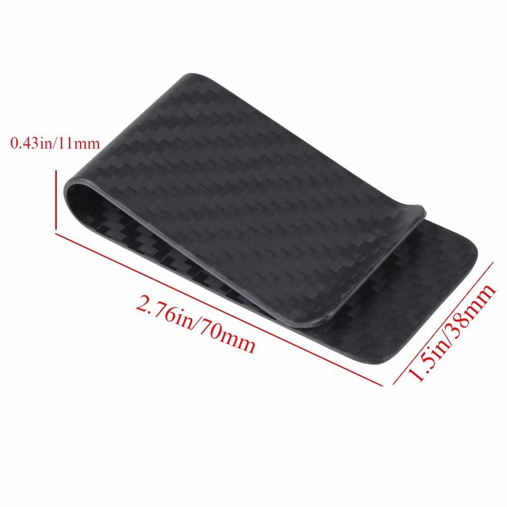 HonsCreat Carbon Fiber Money Clip Holder Mens Business Credit Card Cash Wallet
