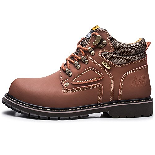 Martin Velvet Autumn and Boots Plus Light Winter Shoes Waterproof Boots Hiking Work No Velvet Brown Men vtvT4qB