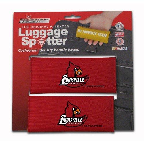 Louisville Cardinals Luggage Spotter ®荷物ロケータ/ハンドルグリップ/グリップ/旅行バッグタグLuggage / Luggageハンドルラップ( 2パック) – Closeout 。Almost Gone 。   B00GZY8PWA
