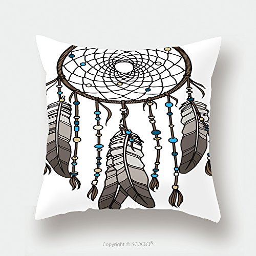 Custom Satin Pillowcase Protector Native American Indian Dream Catcher 315717764 Pillow Case Covers Decorative by chaoran