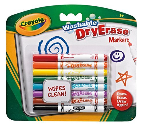 Crayola Washable DryErase Markers Hang Pack 8's - Bold and bright -
