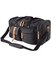 Oversized Canvas Duffel Bag Overnight Travel Tote Weekend Bag