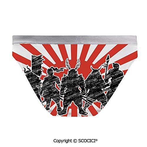 SCOCICI Sexy Women Panties Group of Samurai Ninja