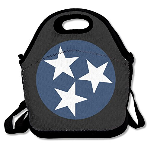(Flag Of Tennessee Symbol Lunch Box Bag For Kids And Adult,lunch Tote Lunch Holder With Adjustable Strap For Men Women Boys Girls,This Design For Portable, Oblique Cross,double)