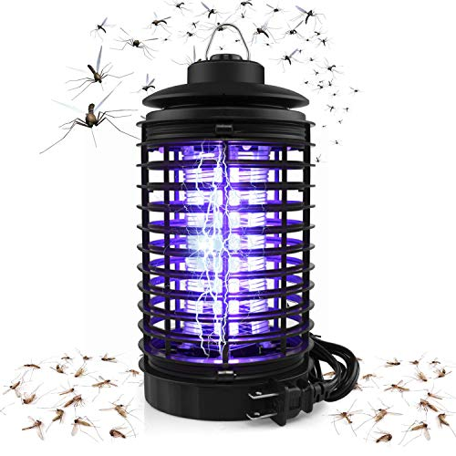 - BAPTISM Electric Bug Zapper, Powerful Mosquito Trap, Light-Emitting Mosquito Lamp with Hook, Flying Insect Trap for Indoor (Black)