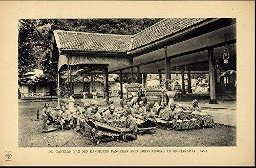 Javanese Band Music Musicians Instruments nice scarce ca. 1912 Indonesia - Indonesia Band