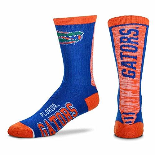 For Bare Feet Florida Gators Adult NCAA Jump Key Socks - Team Color, Large