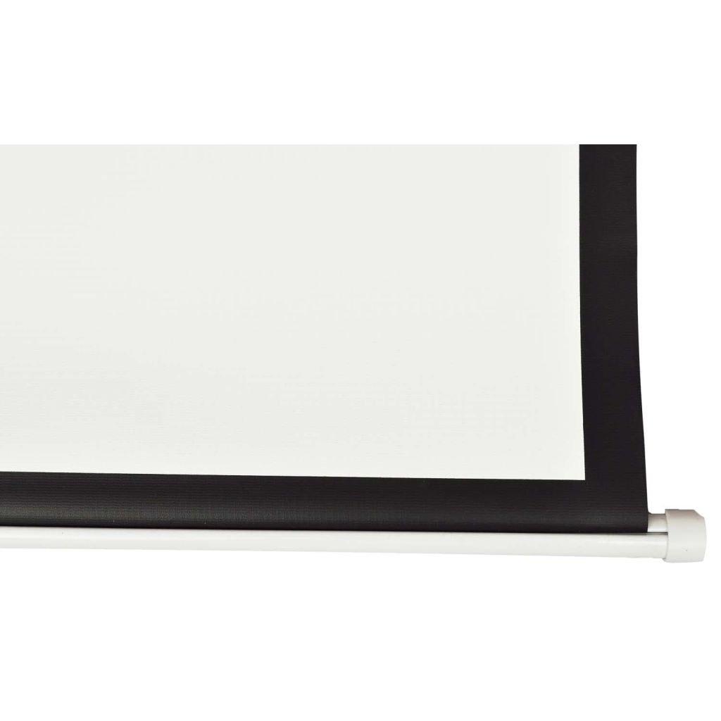 vidaXL Pantalla de proyección Manual 200 x153 cm Blanco Opaco 4:3 Techo Pared