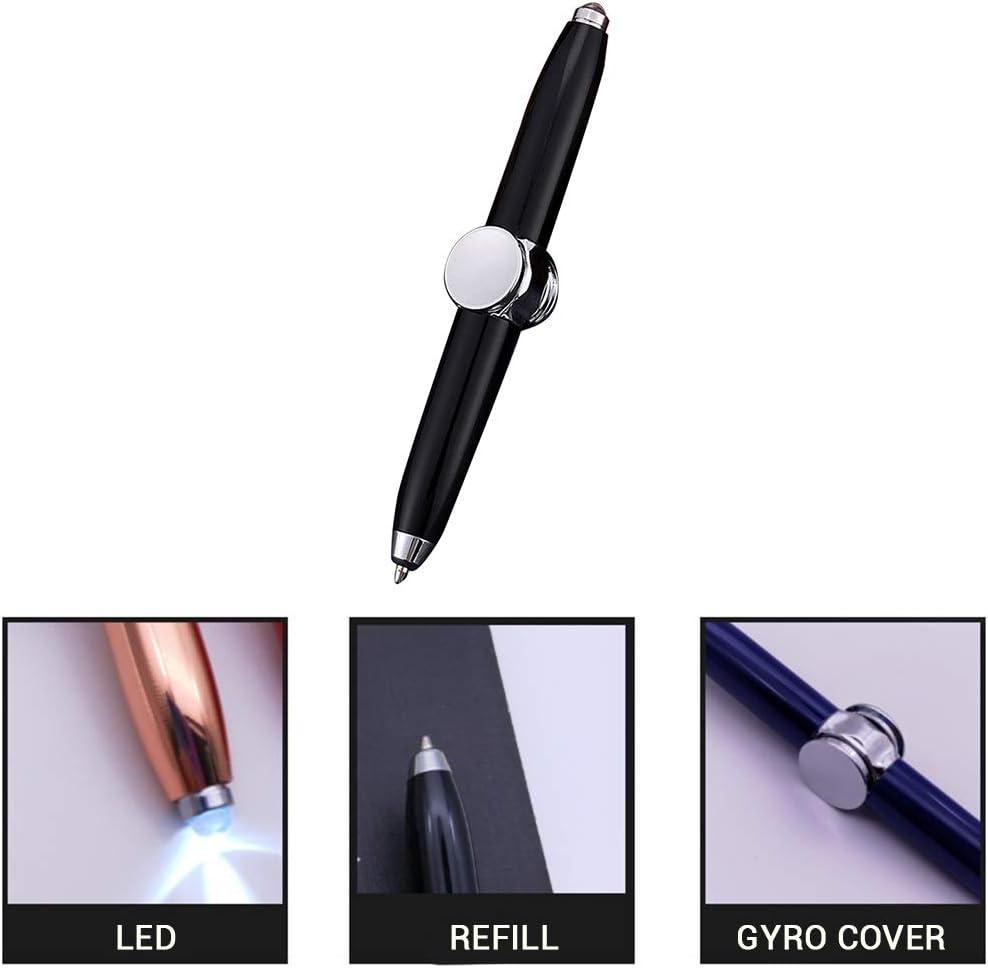 Uyuke Multifunktions Metall Finger Gyro Spinner Gyroskop Stift Licht Kugelschreiber Stress Spielzeug