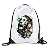 HROSE Unisex Drawstring Bags Conor Mcgregor Drawstring Backpack Sack Bag, Ideal For Gym And Sports Workout