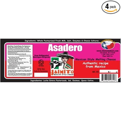 Amazon.com : Cheesemakers Barra Queso Asadero Cheese, 5 ...