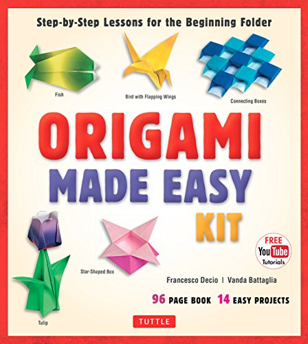 Origami Made Easy Ebook: Step-by-Step Lessons for the Beginning Folder: Origami Book with 14 Projects & Online Video Tutorial: Great for Kids and (Folders Online)