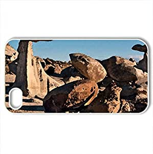 Bisti Badlands, New Mexico - Case Cover for iPhone 4 and 4s (Canyons Series, Watercolor style, White)