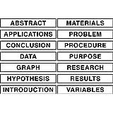 "Pacon Self-Adhesive Presentation Science Subtitles, 14 Titles, 1-1/2"" x 8-1/2"" (3764)"