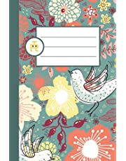 Morning Flowers and Birds: Pretty Floral Notebook