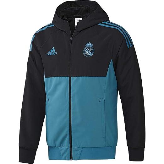 adidas 2017-2018 Real Madrid EU Presentation Jacket (Black)