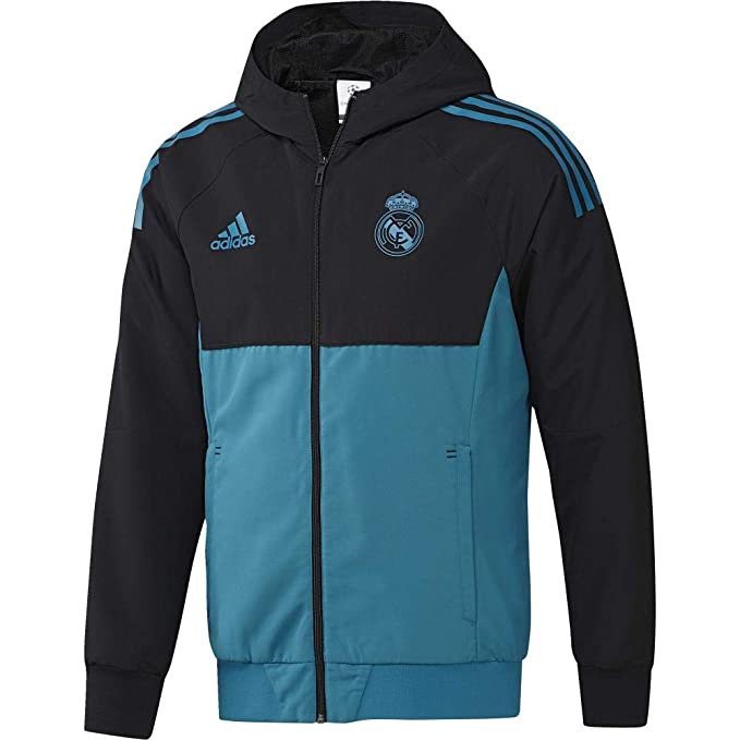 adidas Eu Pre Jkt Chaqueta-Líneaa Real Madrid FC Temporada 2017/2018, Hombre