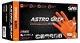 Astro Grip Powder-free 6mil Nitrile Orange Hi-Visibility Glove - Case - X-large