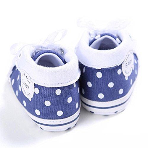 Zapatillas de deporte, Internet Zapatos de tacón suave antideslizante de la zapatilla de deporte del alto corte de los cequis del bebé Azul