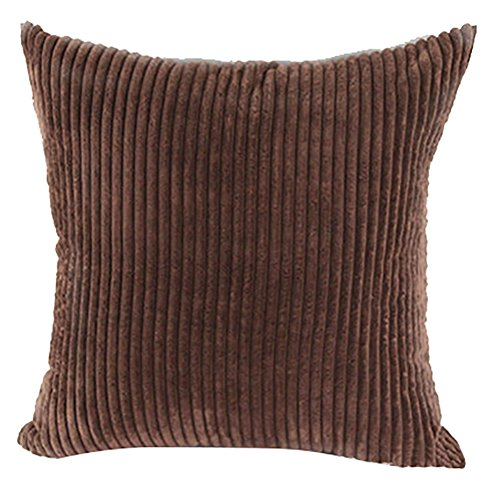 Square/Rectangle Solid Pinkycolor Printed Cushion Cover ChezMax Corduroy Striped Throw Pillow ...