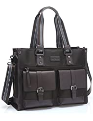 UTAKE Briefcase Shoulder Handbags Multi-functional Business Messenger Bags Laptop Bags UT45 Brown