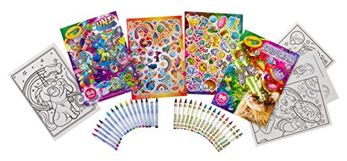 Crayola Uni-Creatures & Cosmic Cats Coloring Book Bundle, Amazon Exclusive, Gift for Kids