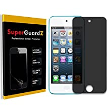 [2-Pack] For iPod Touch 6 (6th Generation) / 5 (5th Generation) - SuperGuardZ Privacy Anti-Spy Screen Protector, Anti-Glare, Anti-Scratch, Anti-Bubble [Lifetime Replacement]