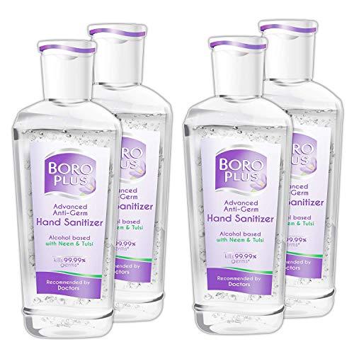 BoroPlus Advanced Anti-Germ Hand Sanitizer, 50ml – Pack of 4