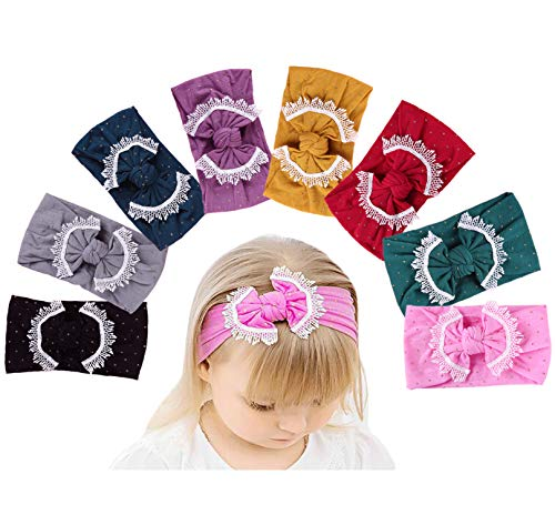 Baby Girl Nylon Headbands Newborn Infant Toddler Hairbands Children Bows Petal Flower knotted Soft Headwrap Hair Accessories -
