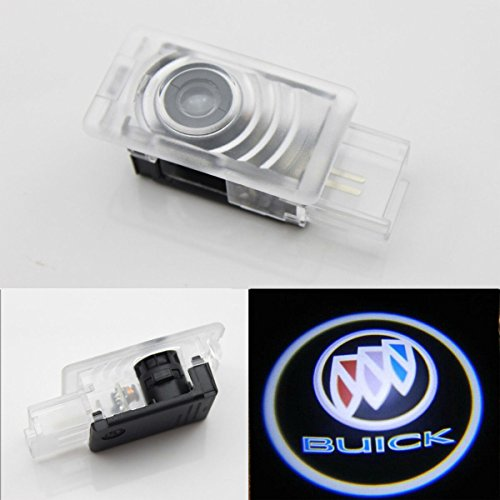 CNAutoLicht 2X For Buick LaCrosse 08-17 Envision 14-16 Allure 08-10 Enclave 10-16 Encore 13-17 Cree LED Door Step Courtesy Light Welcome Light Laser Shadow Logo Projector Lamp