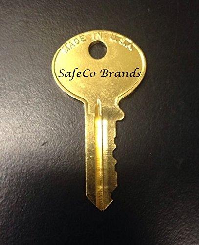 SafeCo Brands Hon, Hudson, Fire King, Chicago File Cabinet Keys L001 Thru  L010
