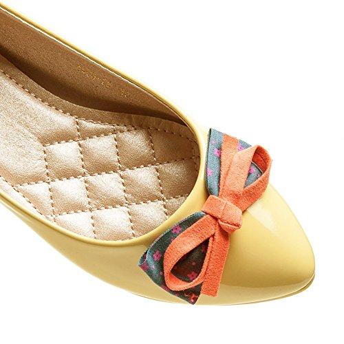 Schuhzoo - elegante Damen Ballerinas Gelb