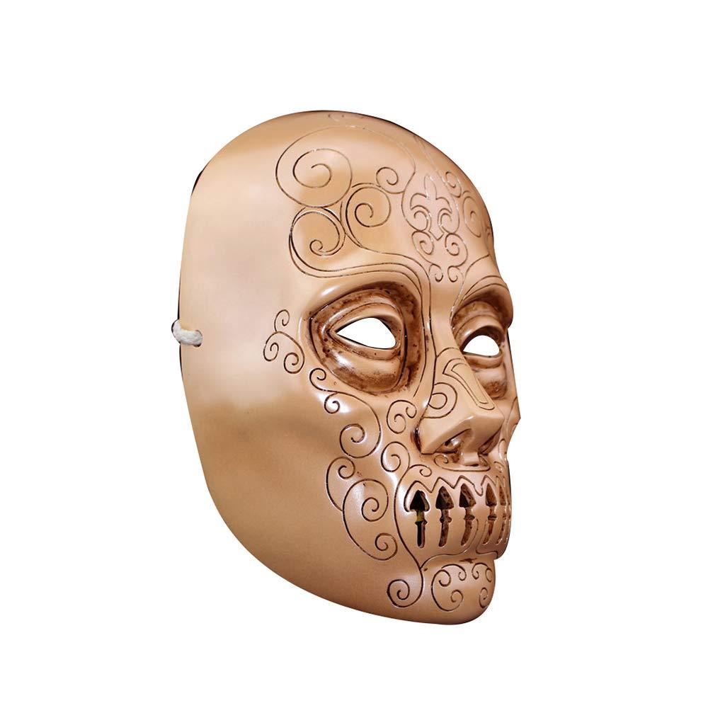 ZIJUAN Máscara De Resina para Adultos Máscara De Mortífago Carnaval Navidad Halloween Año Tema De Pascua Fiesta Sombrero Máscara Tocado Cosplay Máscara Rendimiento Decoración Accesorios
