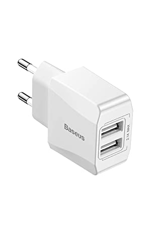 Baseus Cargador USB Dual Charge 2.14A, Carga rápida, Android ...