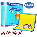 Mouse Glue Trap, Rat Glue Traps, Glue Traps for mice, Super Sticky & Extra Large, Best Peanut Butter Scented Mouse Traps Glue Board for Mice & Rodent &Pests & Bug & Ant & Spider - 6 Pack