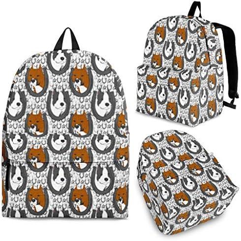 Breedink American Staffordshire Terrier Dog Print Backpack / Breedink American Staffordshire Terrier Dog Print Backpack