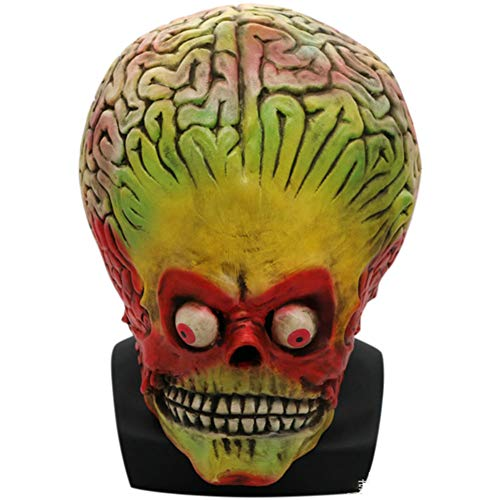 Ss Scary Mask, Alien Head and Neck Full Head Scary Biohazard Monster Latex Mask Halloween Costume Party Ball Creepy Horror Props Code
