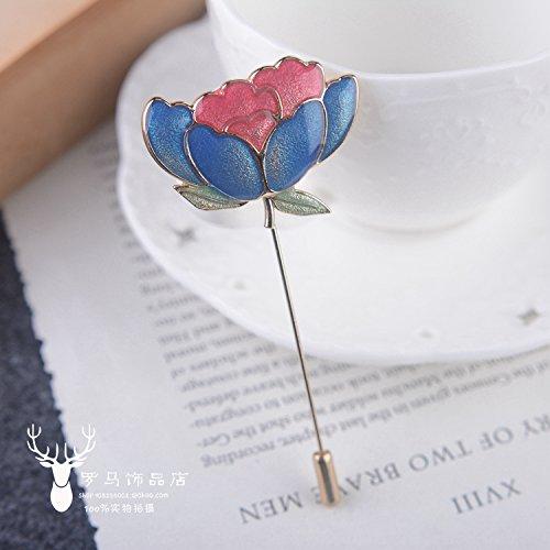 Amazoncom Korean Sen Deparent Of Lotus Leaf Brooch Rose Corsage