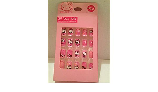 Amazon.com : Claires Hello Kitty 20 Faux Nails : Beauty