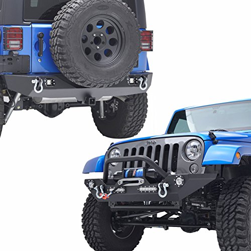E-Autogrilles Jeep Wrangler JK Bumper Combo with Front and Rear Bumper Kits