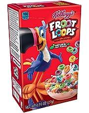 Kellogg's Froot Loops, Breakfast Cereal, Original, Good Source of Fiber, Single Serve, 0.95 oz Box(Pack of 70)