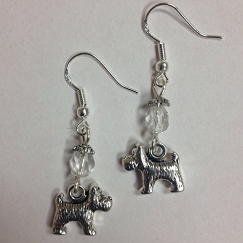 Terrier Dog Breed Earrings, Scottie, Yorkie, Small Breed Earrings, on sterling silver earwires