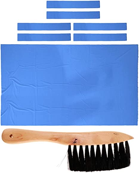 Cicony Pool Table Felt Billiard Cloth with 6 Cloth Strips for 9 Foot Table
