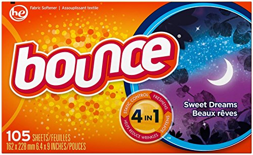 Bounce Fabric Softener Sheets - Sweet Dreams - 105 ct
