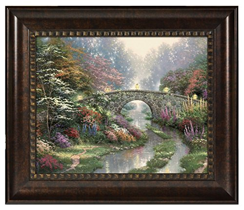 (Thomas Kinkade Stillwater Bridge 16 x 20 Brushstroke Vignette (Rich)