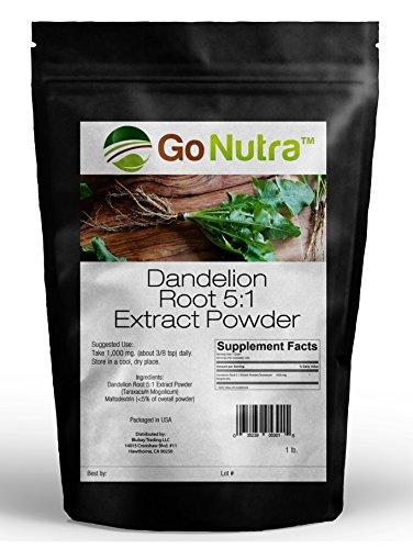 (Dandelion Root Powder 5:1 Extract 5x times Stronger Non-Gmo 1lb)