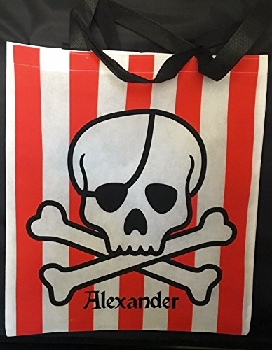 ADD A NAME! Personalized Pirate Halloween Trick or Treat Candy Bag~Customized