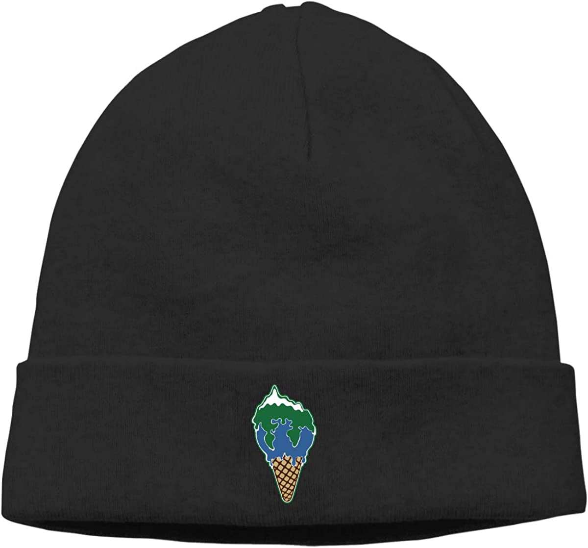 Melting Earth Ice Cream Men Women Deliciously Soft Daily Winter Beanie