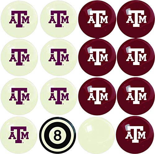 (Imperial Officially Licensed NCAA Merchandise: Home vs. Away Billiard/Pool Balls, Complete 16 Ball Set, Texas A&M Aggies)