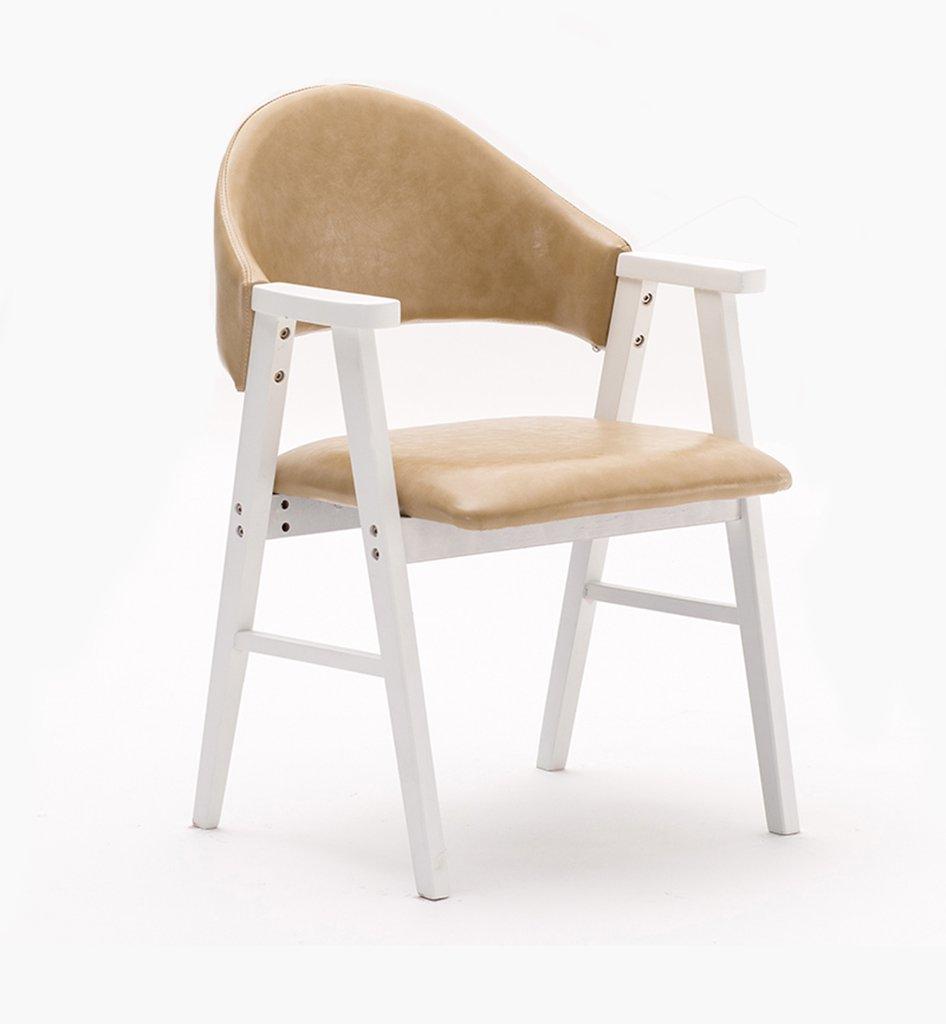 椅子、ソリッドダイニングチェアシンプルスタディチェアアームレスト付きラウンジチェアノルディックバックチェアホワイト幅57cm×奥行58.5cm×高さ81.5cm ( 色 : #1 ) B076HGL3S6#1